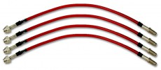 Stainless Steel Brake Pipe Set - Red