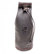 Leather Cupholder Bag `Biscione Nero