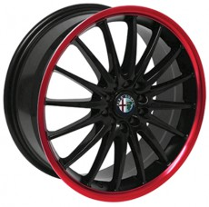 Rim Jet RS - Gloss Black With Ice Red Border
