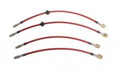 Stahlflex-Bremsschlauch-Satz - rot