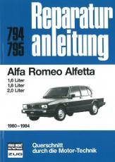 Reparaturanleitung Alfa Romeo Alfetta 1980-1984 - 1.6 / 1.8 / 2.0 Liter