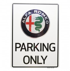 Sign Alfa Romeo parking only