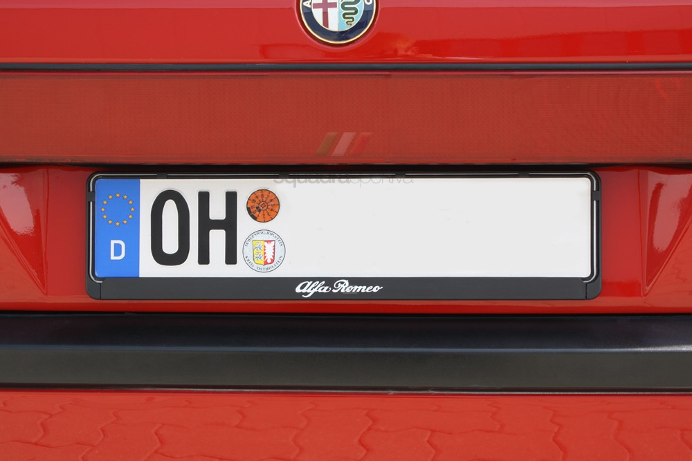 License Plate Holder / Surround & Alfa Romeo Number Plates Holder - Alfa Romeo Shop - Tuning Styling ...