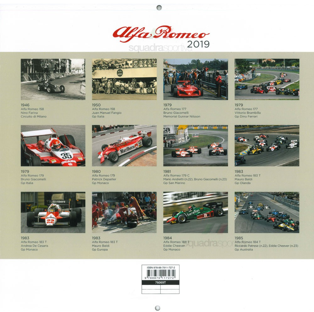 Formula 1 Calendario.Calendar Calendario 2019 Alfa Romeo Formula 1 Alfa Romeo